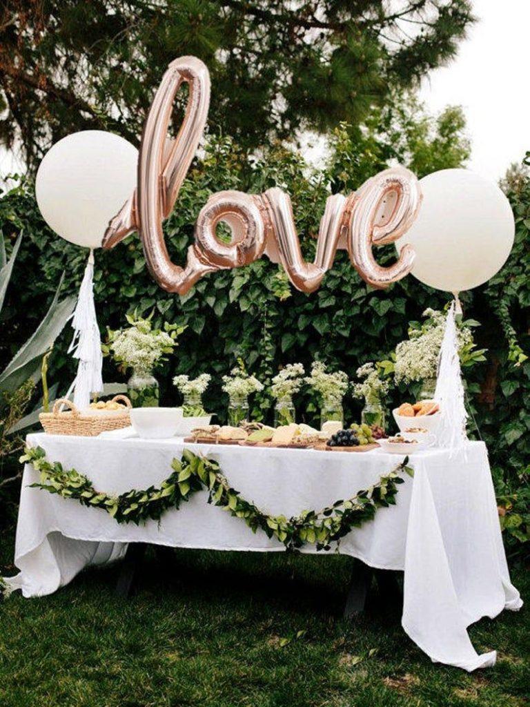 LOVE script- Rose gold Mylar Balloons {Party- Celebration Decor}