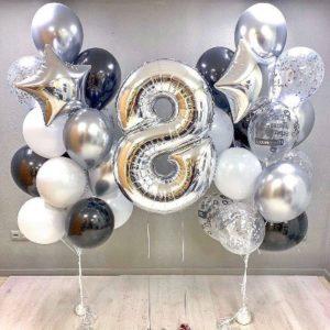 Композиции из шаров с цифрами
